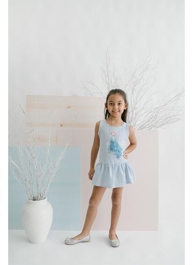 Frozen   Elbise 15619 Mavi